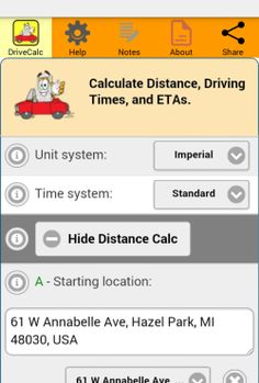 15 best Drive Time Calculator images on Pinterest in 2018 | Drive ...