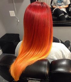 Image result for pink orange hair