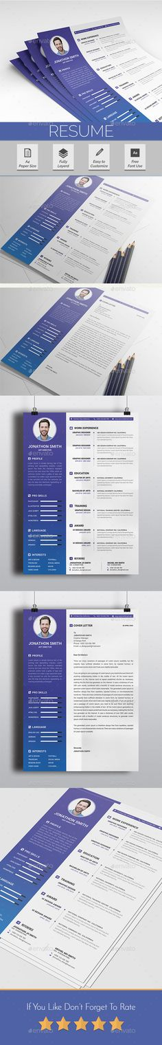 ResumeResume/cv with Cover Letter Design Main Features with with Bleeds Very Well Organized Files Resume/CV & Cover Letter Print Ready CMYK Mode 300 Dpi Free Font Used Images are not included Best Resume Template, Best Templates, Flyer Design Templates, Cv Template, Cover Letter Design, Cover Letter For Resume, Portfolio Resume, Job Resume, Resume Design