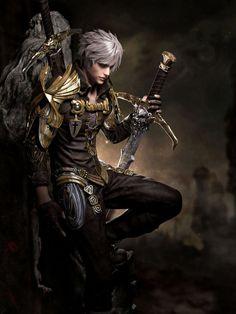 Image result for blonde male fantasy warrior
