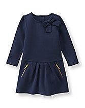 pair with yellow jacket- Pleated Ponte Dress