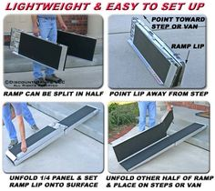 folding portable wheelchair ramps 5 to 10 feet long from discount ramps affordable and easy