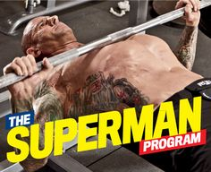 Jim Stoppani Superman Program based on super sets, real effective workout