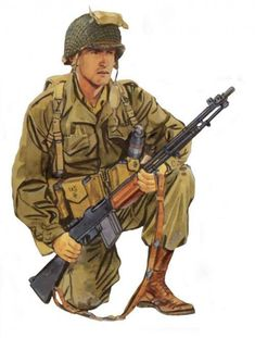 U.S. Army WWII, BAR gunner - pin by Paolo Marzioli