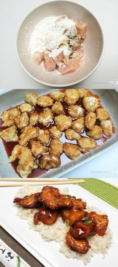 Baked Sweet & Sour Chicken, my go to recipe.- Asian #chinesefoodrecipes