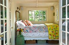 """Eye Candy: 7 Tiny Bedrooms with BIG Style #[""""tiny"""", """"bedroom"""", """"Inspiration"""", """"decor""""] Cottage Bedroom Decor, Cottage Style Bedrooms, Cottage Style Decor, Cottage Interiors, Cottage Living, Cozy Bedroom, Tiny Bedrooms, Lake Cottage, Cottage House"""