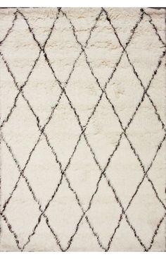 Rugs USA Tuscan Moroccan Shag Ivory Rug, 8x10 $947