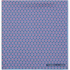 Turnbull & Asser Circles silk pocket square (975 ZAR) ❤ liked on Polyvore featuring men's fashion, men's accessories and handkerchiefs