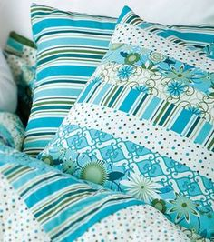 Colorful Pieced Pillows