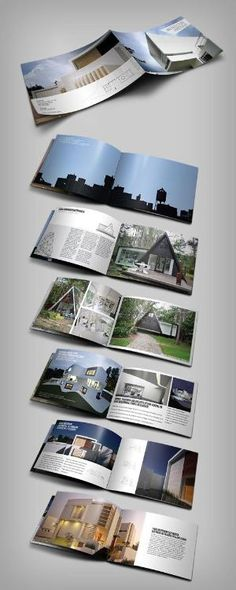 Square Abstract Architecture Brochure  Abstract Construction And
