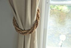 Manila Rope Rustic Thick Twist Curtain by AndreaCookInteriors