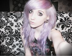 ideas in pastel hair purple hair. She is so cute!