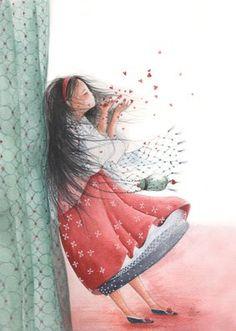 Illustration An Melis Children's Book Illustration, Watercolor Illustration, Watercolor Art, Art Magique, Arte Popular, Heart Art, Whimsical Art, Cute Drawings, Beautiful Paintings