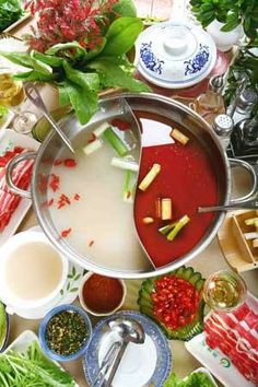 hot pot (or Chinese fondue) with meat, seafood and vegetables is a must, meaning prosperous and booming.