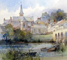 Buy Charles John De Lacy Newcastle on Tyne and other Victorian paintings and watercolours at James Alder Fine Art Watercolor City, Watercolor Landscape Paintings, Watercolor Sketch, Watercolour Painting, Landscape Art, Watercolours, David Howell, Art Aquarelle, Artist Gallery