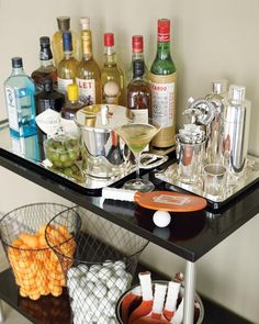 "Spirits go in and out of vogue, but a well-stocked bar is timeless. To wit: this list from Martha Stewart's ""Entertaining,"" first published in 1982! Build the home bar of your dreams with her all-inclusive -- and still perfect -- list of alcohol, mixers, and equipment."