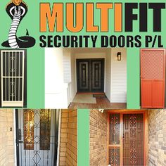 We offer multiple designs and colours of for your selection at the best price, without compromising the quality. Security Doors, Locks, Melbourne, Garage Doors, Windows, Colours, Outdoor Decor, Design, Home Decor