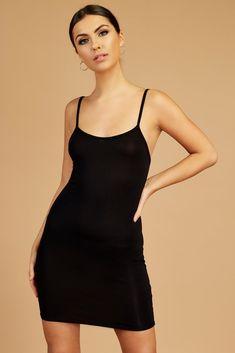 c81a740eb298 Black Strappy Bodycon Mini Dress