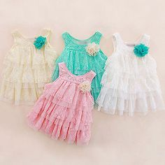 Kids Toddlers Baby Girls Summer Layered Dress Princess Party Lace Tutu Dress in Clothes, Shoes & Accessories, Kids' Clothes, Shoes & Accs., Girls' Clothing (2-16 Years) | eBay