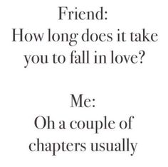 So relatable! When we fall for a book boyfriend, we fall fast.