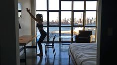 The Ultimate Hotel Room Workout: 7 Body-Sculpting Moves With Model Irina Shayk