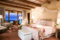 A gorgeous room at The St. Regis Punta Mita Resort in Mexico.