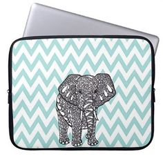 """ELP Fashion Cute Cartoon Elephant Neoprene Laptop Soft Sleeve Case Bag Pouch Cover for 13"""" Macbook Pro / Air HP Dell Acer: Amazon.co.uk: Computers & Accessories"""