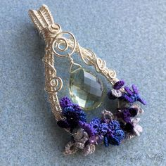 All mixed up!  This pendant is my latest experiment of combining wire-wrapping and tatting. I started with a wire weave that I learne...