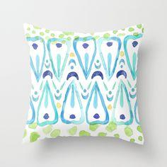 Wing Pattern - Turquiose Throw Pillow