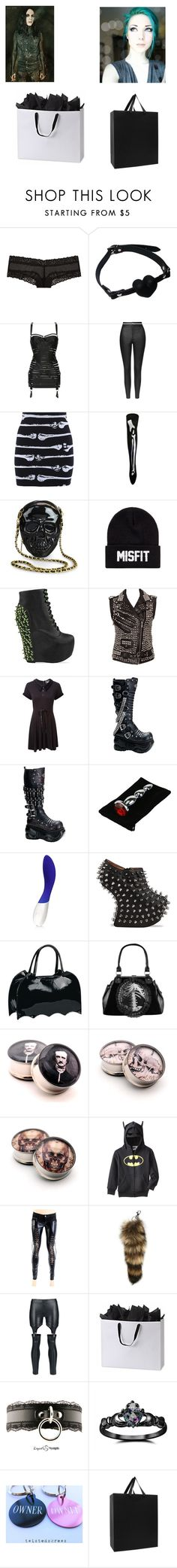 """""""look what i got you- Ricky"""" by ravenxsykessola ❤ liked on Polyvore featuring Intimissimi, Victoria's Secret, Bordelle, Atsuko Kudo, Topshop, Iron Fist, Loungefly, SSUR, Jeffrey Campbell and Kill Star"""