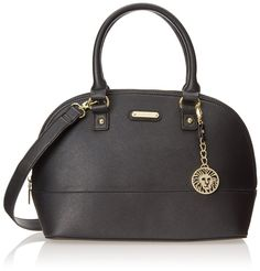 Anne Klein Jazzy Geos Large 60269074 Top Handle Bag,Black,One Size