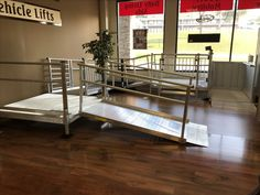 Our Aluminum Wheelchair ramp display in our Hermitage TN Portable Ramps, Bunk Beds, Nashville, Display, Furniture, Home Decor, Floor Space, Decoration Home