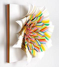 paul-martin:    Coriolis Effect / hand-cut paper by Jen Stark