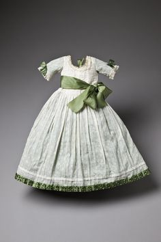 1775 Child's dress with green bows worn by Gustav of Sweden, via Royal Armoury Collection, Sweden.