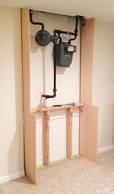 How To Cover Exposed Pipes In Basement Google Search Dump Site Pinterest Basements