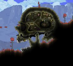 Woah! This actually looks kinda scary!Really Nice how the creator of this Giant Skull House has blended it in with the Nature!