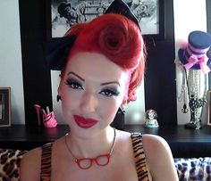 Pin up Ashley Marie I love her hair!