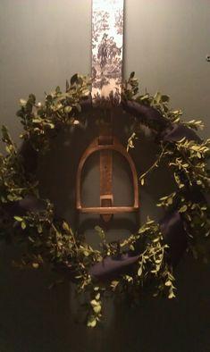 Stirrup Wreath. Great year round home decor! @Megan Coggins