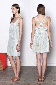 speckled criss-cross dress