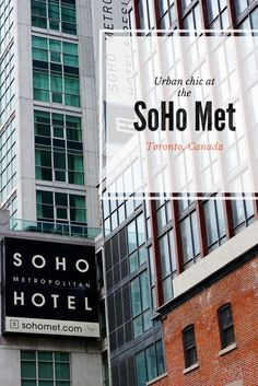 Smack-dab in Toronto's buzzing entertainment district, the SoHo Toronto (aka SoHo Metropolitan Hotel) is a cool mix of urban hipster and luxury chic. See our detailed review!