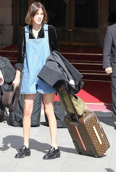 Alexa Chung leaving her hotel in Paris | May 18, 2011