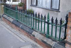 Victorian Cast Iron Railings reclaimed and refitted Cast Iron Railings, Metal Railings, Property Design, Railing Design, Back In The Day, Tile Floor, Stairs, Floor Plans, Victorian