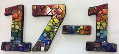 Dichroic Glass Jewelry, House Numbers, Rainbow Colors, Create Your Own, Mosaic, Letters, Handmade Gifts, How To Make, Fun