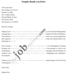 Example  Thanks For Job Interview   Thank You Letter Sample