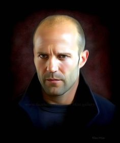 Jason Statham Celebrity Drawings, Celebrity Portraits, Pencil Portrait, Portrait Art, Jason Stratham, Realistic Pencil Drawings, Photo Souvenir, Hollywood Actor, Male Face