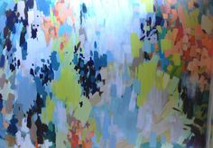 Large Abstract Colorful Painting on Canvas 80in x 60in by Blochs
