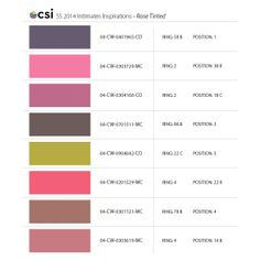 Spring Summer 2014 Intimates Inspirations : Rose Tinted | CSI Color World