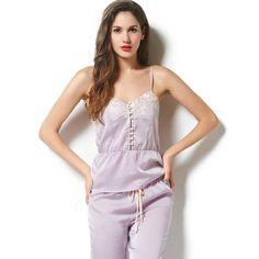 Tulip Luxury Silk Camisole & Pants Sleepwear Silk Sleepwear, Silk Pajamas, Gorgeous Fabrics, Tulips, Camisole, Rompers, Luxury, Pants, Dresses