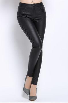 new designs fashion stretch leather leggings for sale | Genuine ...