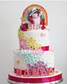 U My Little Pony Cake, Unicorn Cakes, Birthday Cakes, Rainbow, Desserts, Food, Princess Birthday Cakes, Life, Rain Bow